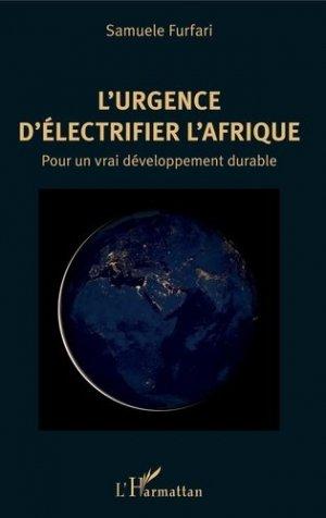L'urgence d'électrifier l'Afrique - l'harmattan - 9782343162027 -
