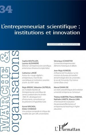 L'entrepreneuriat scientifique : institutions et innovation - l'harmattan - 9782343165561 -