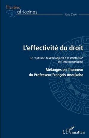 L'effectivité du droit - l'harmattan - 9782343212890 -