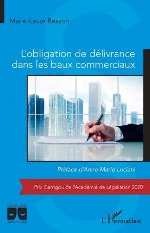 L'obligation de délivrance dans les baux commerciaux - l'harmattan - 9782343223803 -