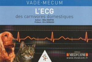 L'ECG des carnivores domestiques - med'com - 9782354030353 -