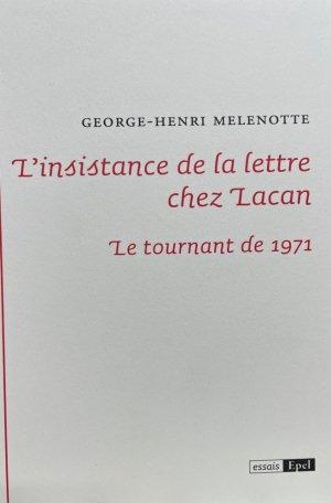 L'instance de la lettre chez Lacan - epel - 9782354275082 -