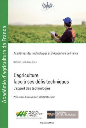 L'agriculture face à ses défis techniques - presses des mines - 9782356715609