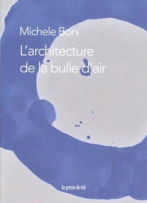 L'architecture de la bulle d'air - Les Presses du réel - 9782378960407 -
