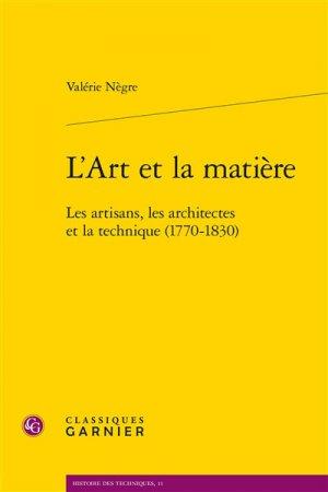L'Art et la matière - classiques garnier - 9782406063148 -