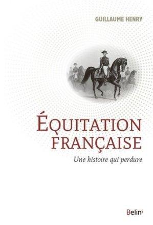 L'équitation française - belin - 9782410005516 -