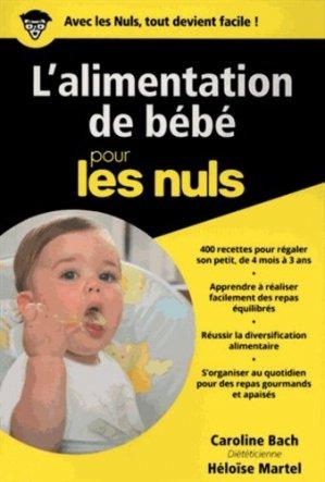 L'alimentation de bébé - first  - 9782412020784 -