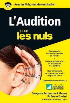 L'audition poche pour les nuls - first - 9782412022887 -