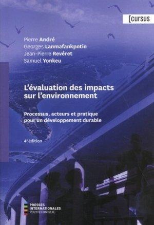 L'évaluation des impacts sur l'environnement - presses polytechnique de montréal - 9782553017261 -