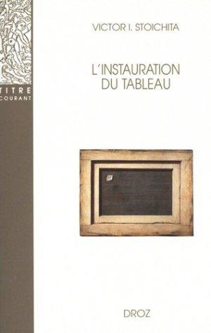 l'instauration du tableau - Librairie Droz - 9782600005166 -