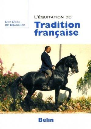 L'équitation de tradition française - belin - 9782701135625 -