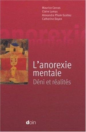 L'anorexie mentale - doin - 9782704012602 -