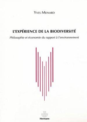 L'expérience de la biodiversité - hermann - 9782705680718 -