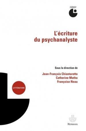 L'écriture du psychanalyste - hermann - 9782705697204 -