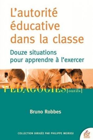 L'autorité éducative dans la classe - esf - 9782710140054 -