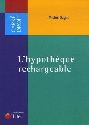 L'hypothèque rechargeable - lexis nexis (ex litec) - 9782711007967 -