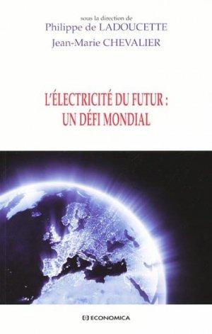 L'Électricité du futur : un défi mondial - economica anthropos - 9782717859065 -