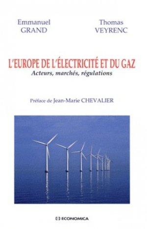 L'Europe de l'électricité et du gaz - Economica - 9782717861020 -
