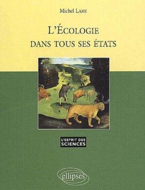 L'écologie dans tous ses états - ellipses - 9782729810214 -