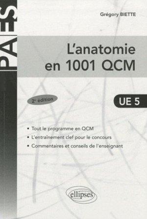 L'anatomie en 1001 QCM  UE5 - ellipses - 9782729856946 -