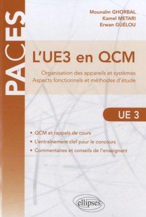 L'UE3 en QCM - ellipses - 9782729876616 -