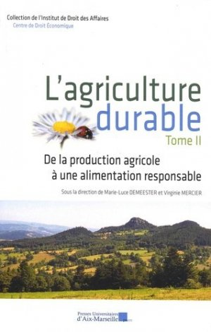 L'agriculture durable - presses universitaires d'aix-marseille - 9782731410860 -