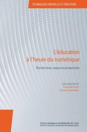 L'éducation à l'heure du numérique - INRP - 9782734212003 -