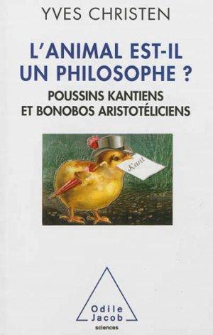L'animal est-il un philosophe ? - odile jacob - 9782738129369 -