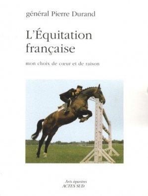 L'équitation française - actes sud - 9782742776306 -