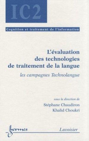 L'évaluation des technologies de traitement de la langue - Hermes Science Publications - 9782746219922 -