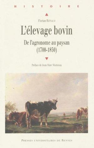 L'élevage bovin - presses universitaires de rennes - 9782753512283