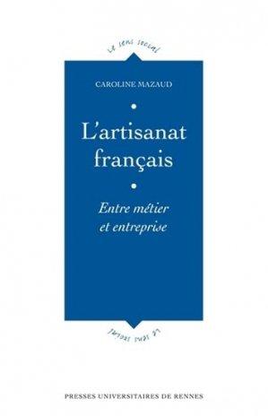 L'artisanat français - presses universitaires de rennes - 9782753527324 -