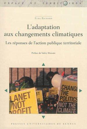 L' adaptation aux changements climatiques - presses universitaires de rennes - 9782753543690