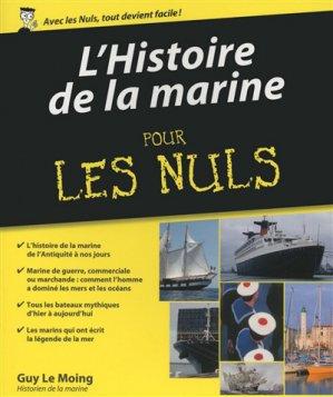 L'histoire de la marine pour les nuls - first editions - 9782754077330 -