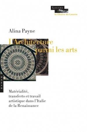L'architecture parmi les arts - hazan - 9782754109543 -