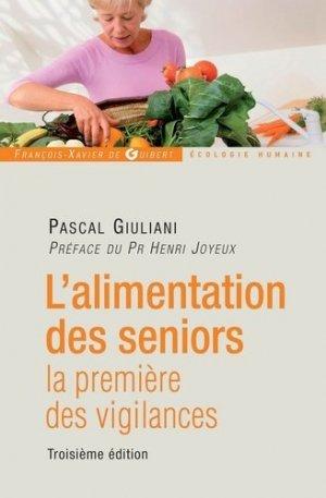 L'alimentation des seniors - francois-xavier de guibert - 9782755404104 -