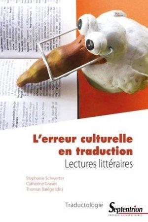 L'erreur culturelle en traduction - presses universitaires du septentrion - 9782757429525 -