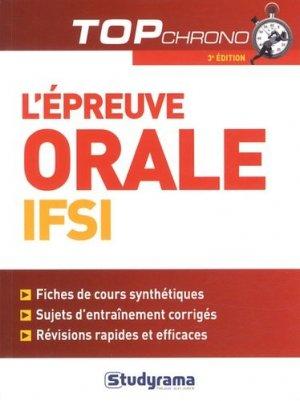 L'épreuve orale IFSI - studyrama - 9782759019199 -