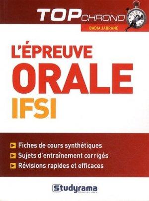 L'épreuve orale IFSI - studyrama - 9782759024889 -