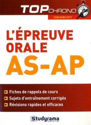 L'épreuve orale AS-AP - studyrama - 9782759034109 -