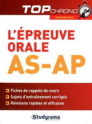 L'épreuve orale AS-AP - studyrama - 9782759036820 -