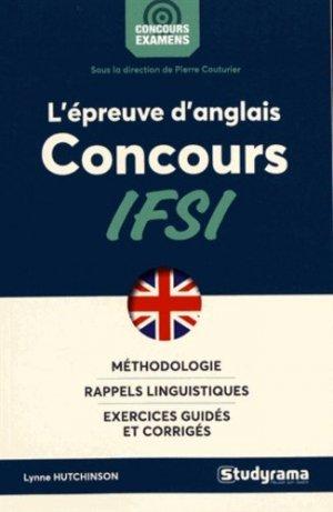 L'épreuve d'anglais au concours IFSI - studyrama - 9782759037018 -