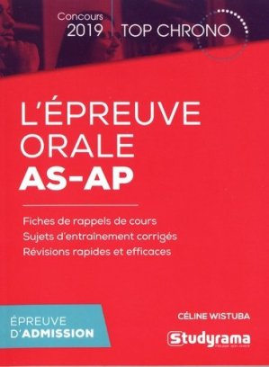 L'épreuve orale AS-AP - studyrama - 9782759039111 -