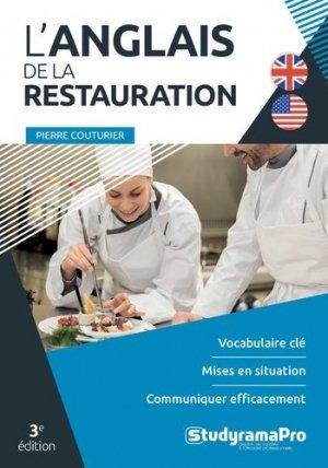 L'anglais de la restauration - studyrama - 9782759040124 -
