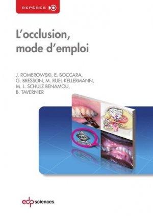 L'occlusion, mode d'emploi - edp sciences - 9782759810451 -