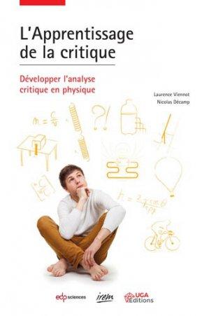 L'apprentissage de la critique - EDP Sciences - 9782759823550 -