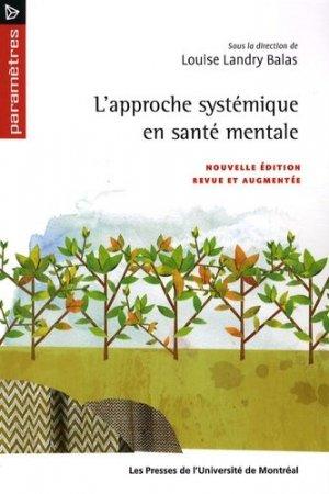L'approche systémique en santé mentale - presses de l'universite de montréal - 9782760621299 -