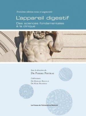 L'appareil digestif - presses de l'universite de montréal - 9782760641570 -