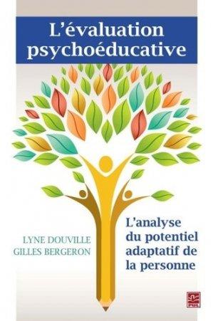L'évaluation psychoéducative - presses universitaires de laval - 9782763728414 -