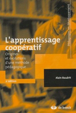 L'apprentissage coopératif - de boeck superieur - 9782804155018 -